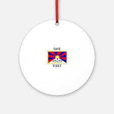 Save Tibet Ornament (Round)