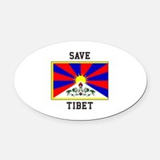 Save Tibet Oval Car Magnet