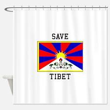 Save Tibet Shower Curtain