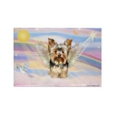 Clouds/Yorkie Angel (#17) Rectangle Magnet