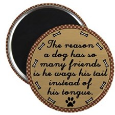 Country Dog Friends Magnet (Pine)