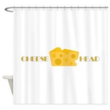 Cheese Head Shower Curtain