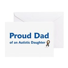 Proud Dad Of Autistic Daughter Greeting Card