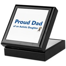 Proud Dad Of Autistic Daughter Keepsake Box