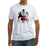 Steer Family Crest Fitted T-Shirt