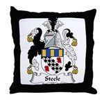 Steele Family Crest Throw Pillow