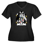 Steele Family Crest Women's Plus Size V-Neck Dark