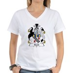 Steele Family Crest  Women's V-Neck T-Shirt