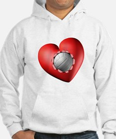 Volleyball Heart Hoodie