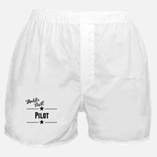 Worlds Best Pilot Boxer Shorts