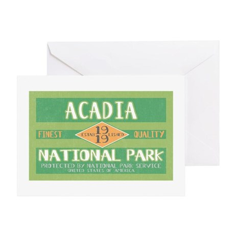 Acadia National Park (Retro) Greeting Card