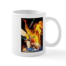 World 'a Fire Blazing Blades Knee Mugs