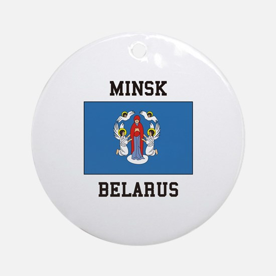Minsk, Belarus Ornament (Round)