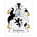 Stapleton Family Crest Small Poster