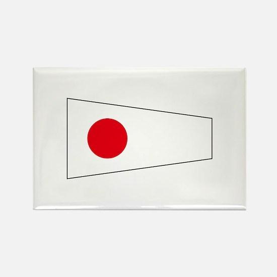 "Pennant Flag Number ""1"" Magnets"
