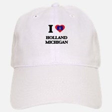 I love Holland Michigan Baseball Baseball Cap