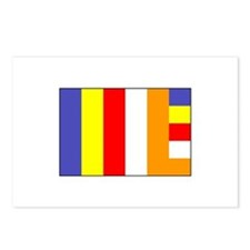 Flag of Buddhism Postcards (Package of 8)