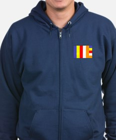 Flag of Buddhism Zip Hoodie