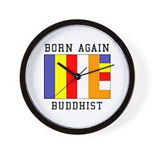 Born Again Buddhist Wall Clock
