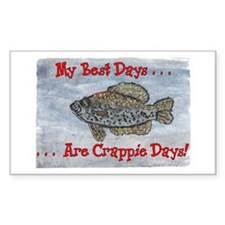 Crappie Days! Rectangle Decal