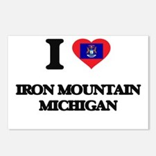 I love Iron Mountain Mich Postcards (Package of 8)