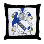 Stanley Family Crest Throw Pillow