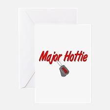 USCG Major Hottie Greeting Card