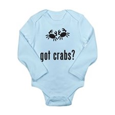 Crabs Long Sleeve Infant Bodysuit