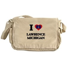 I love Lawrence Michigan Messenger Bag