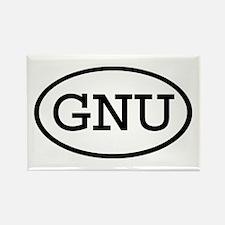 GNU Oval Rectangle Magnet
