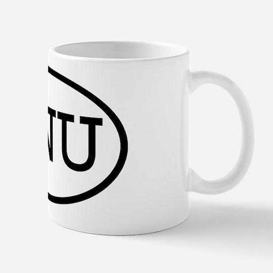 GNU Oval Mug