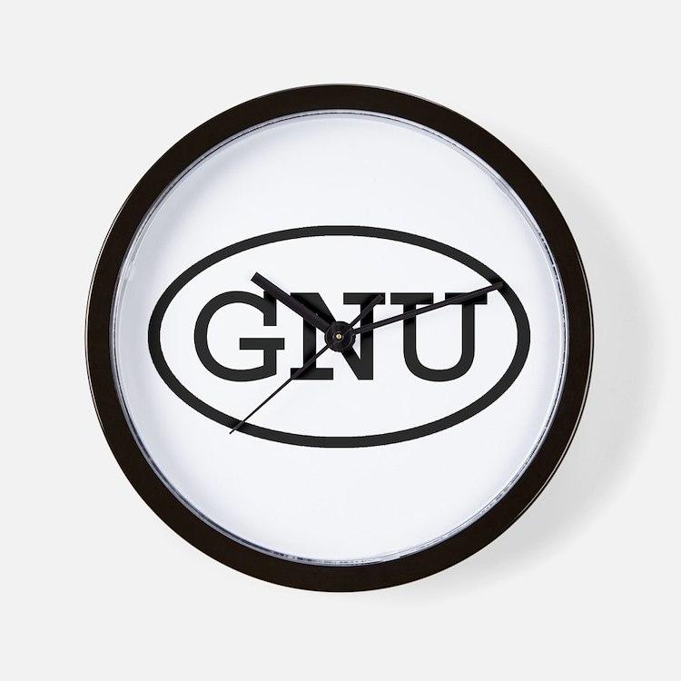 GNU Oval Wall Clock