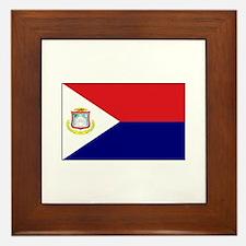 Saint Martin Flag Framed Tile