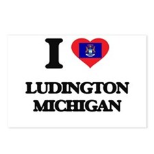 I love Ludington Michigan Postcards (Package of 8)