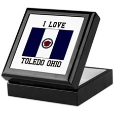 I Love Toledo Ohio Keepsake Box