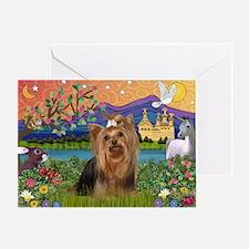 Fantasy/Yorkie (#7) Greeting Card