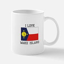 I Love Wake Island Mugs