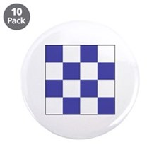 "ICS Flag Letter ""N"" 3.5"" Button (10 pack"