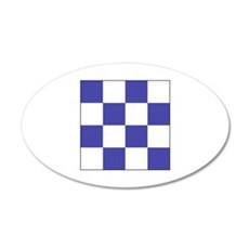 "ICS Flag Letter ""N"" Wall Decal"