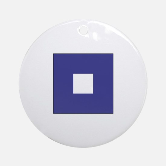 "ICS Flag Letter ""P"" Ornament (Round)"