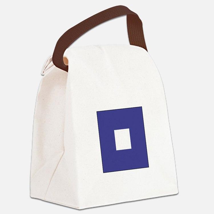 "ICS Flag Letter ""P"" Canvas Lunch Bag"