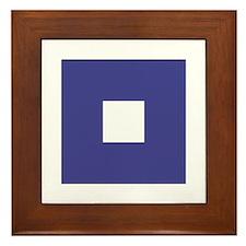 """ICS Flag Letter """"P"""" Framed Tile"""