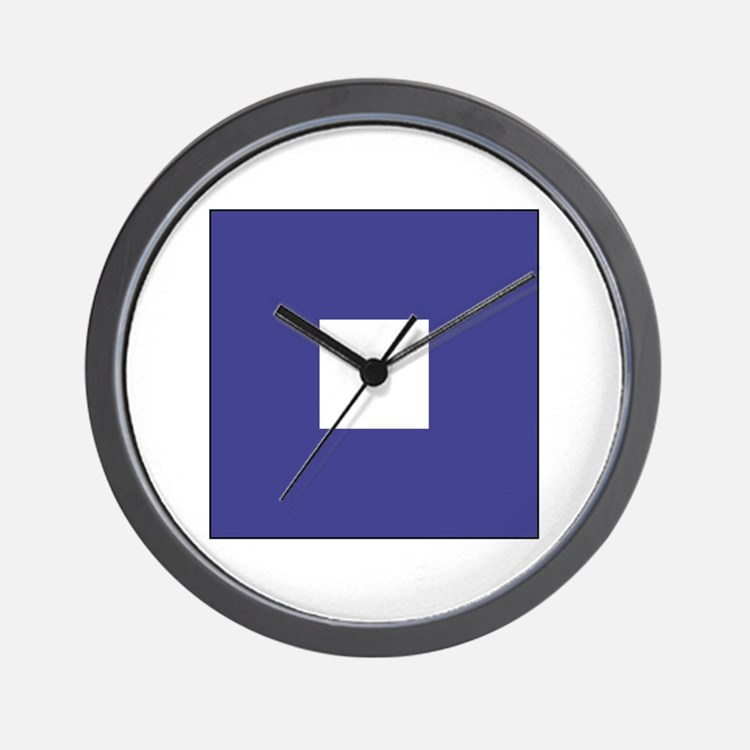 "ICS Flag Letter ""P"" Wall Clock"