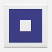 "ICS Flag Letter ""P"" Tile Coaster"