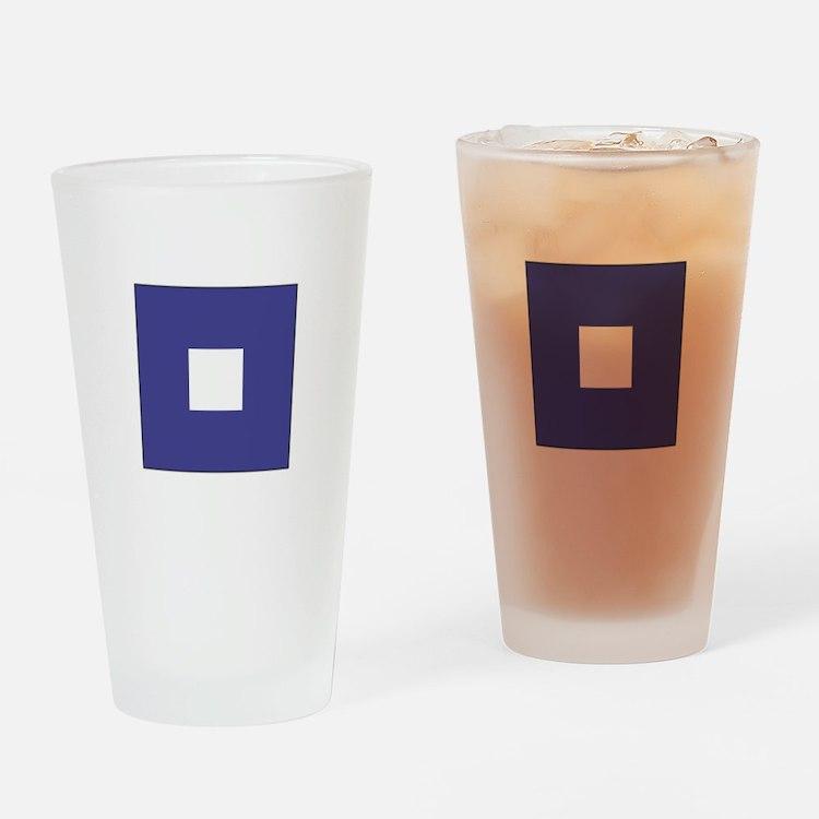 "ICS Flag Letter ""P"" Drinking Glass"