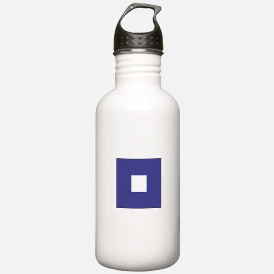 """ICS Flag Letter """"P"""" Water Bottle"""