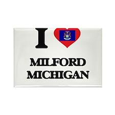 I love Milford Michigan Magnets