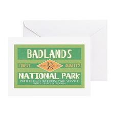 Badlands National Park (Retro) Greeting Card