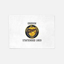 Oregon Statehood 5'x7'Area Rug