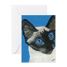 Unique Siamese cat Greeting Card